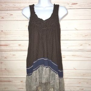 Scrapbook by Anthropologie Boho Lace Knit Tank Top